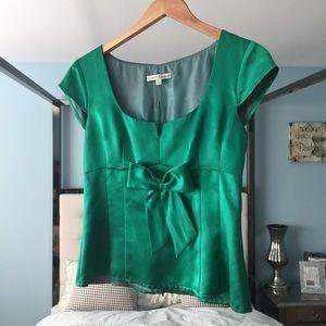 EUC Nanette Lepore Sz 4 Emerald Green Blouse Rare